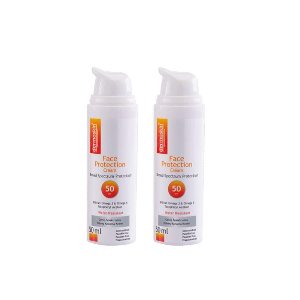 Dermoskin Face Protection SPF 50 -2'li Avantaj Paket
