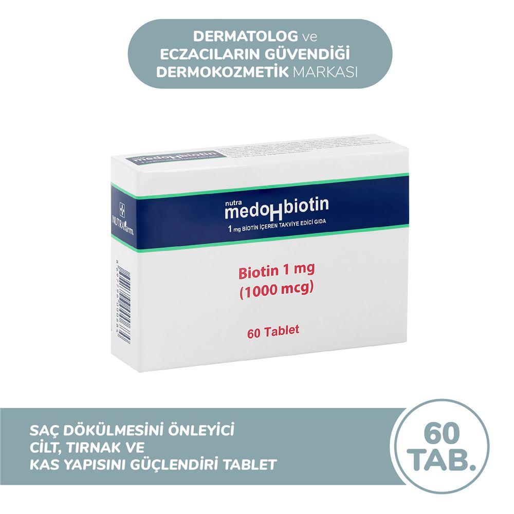 Dermoskin Medohbiotin 1 Mg - 60 Tablet