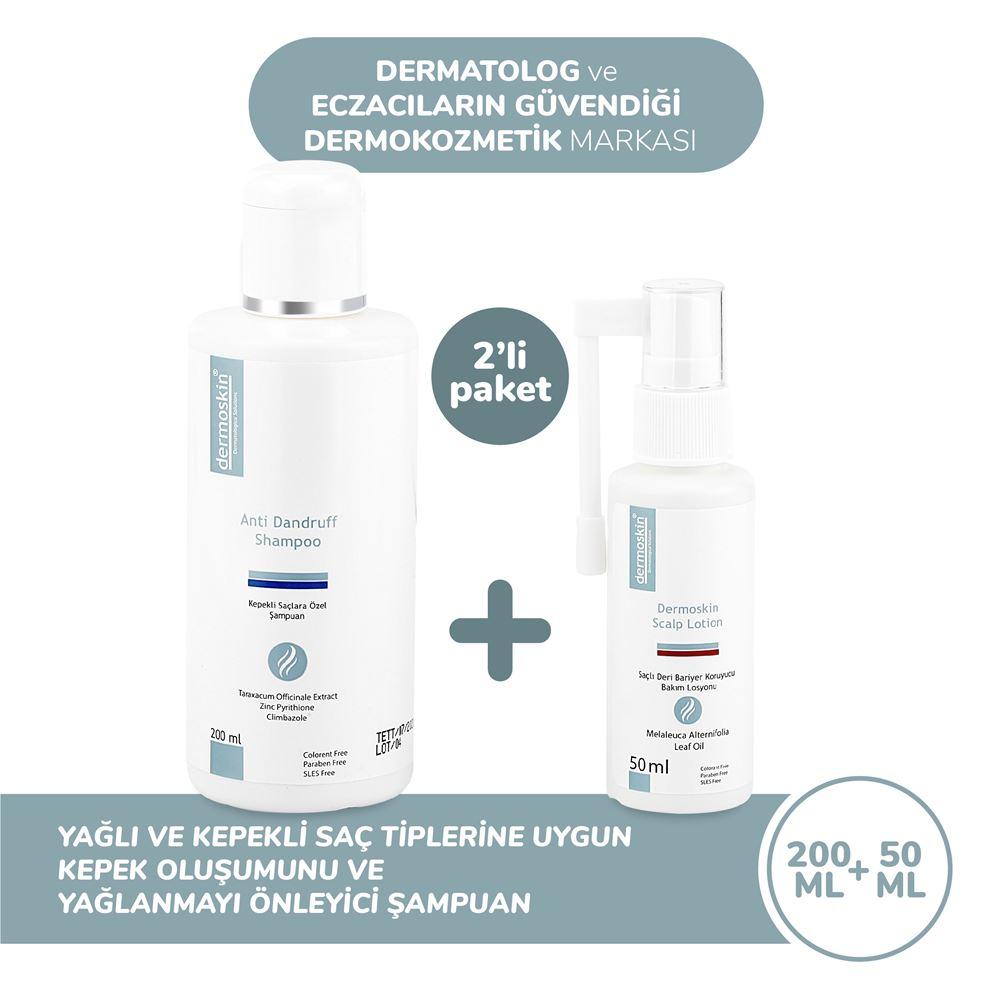 Dermoskin Kepekli Saçlara Özel Anti-Dandruff Şampuan 3 Al 2 Öde